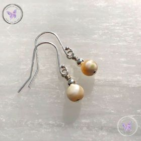 Classical Mother Of Pearl Silver Earrings